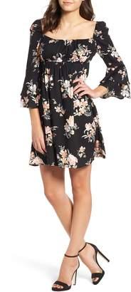 Somedays Lovin Hypnotic Blooms Empire Waist Mini Dress