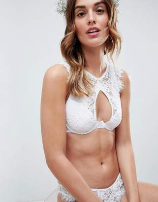 a7c984ca4d84a Asos Design DESIGN Bridal Markle Corded Lace Cut Out Bralette