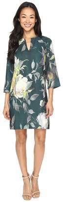 Karen Kane Floral Print Shift Dress Women's Dress