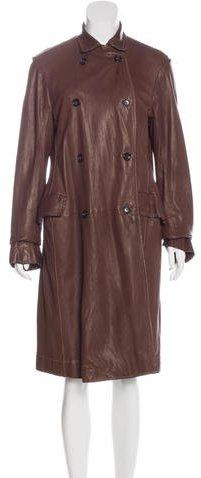 Jil SanderJil Sander Leather Double-Breasted Jacket