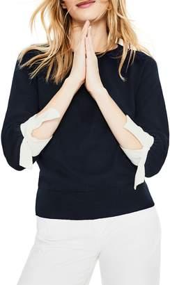 de333ceeab9 Boden Addie Contrast Tie Cuff Linen   Cotton Sweater