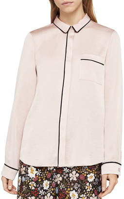 BCBGeneration Button-Front Pajama Blouse