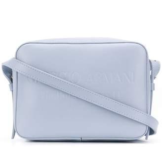 Giorgio Armani embossed logo shoulder bag