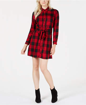Maison Jules Plaid Shirtdress