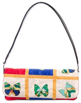 Stuart Weitzman Leather-Trimmed Printed Bag