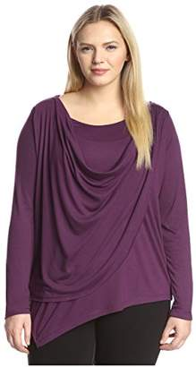 James & Erin Women's Overlap Drape Top