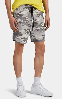 James Perse Men's Camouflage Cotton Basketball Shorts - Gray