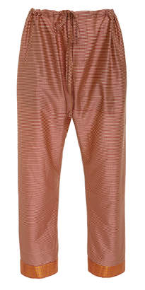 BODE Micro Check Silk Drawstring Pants