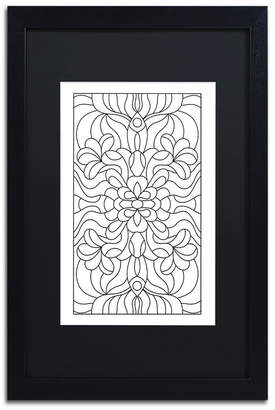 """Trademark Global Kathy G. Ahrens Stained Glass Matted Framed Art - 16"""" x 16"""" x 0.5"""""""