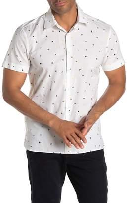 Perry Ellis Confetti Print Slim Fit Shirt