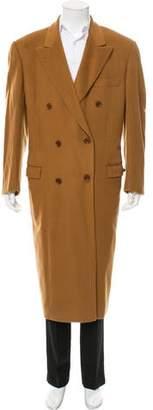 Loro Piana Double-Breasted Vicuna Overcoat