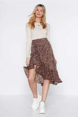 Nasty Gal On the Dot Ruffled Skirt