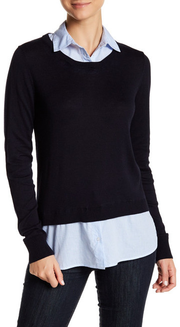 SUSINA Shirttail Sweater