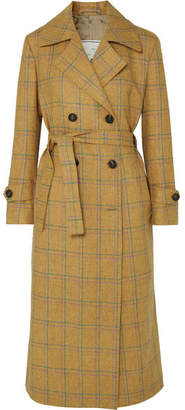 BEIGE Giuliva Heritage Collection Christie Checked Wool Trench Coat