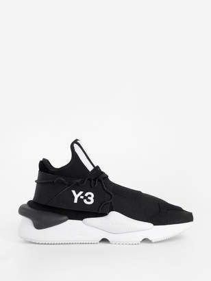 Y-3 Y 3 Black And White Knitted Kaiwa Sneakers