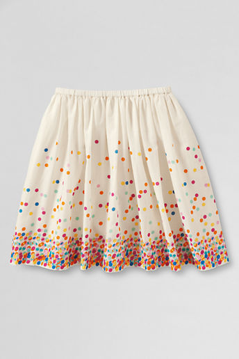 Lands' End Toddler Girls' Falling Dot Woven Skirt