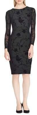 Lauren Ralph Lauren Floral Mesh Sheath Dress