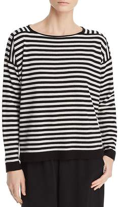 Eileen Fisher Striped Cashmere Sweater