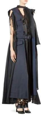 Sacai Mix Media Maxi Trench Dress