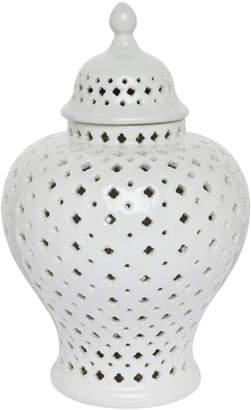 Lexington Home Extra Small White Minx Temple Jar