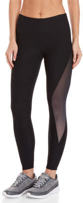 90 Degree By Reflex Black Mesh Side Ankle Leggings
