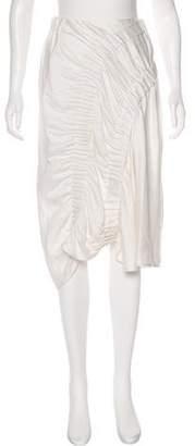 Zero Maria Cornejo Asymmetrical Ruched Skirt