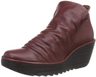 Fly London Women P500505_Glattleder Slouch Boots Red Size: