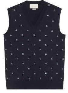 Gucci G dot wool jacquard vest