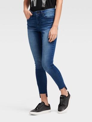 DKNY High-rise Skinny Ankle Jean - High-low Hem