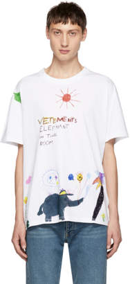 Vetements White Elephant Red Sun T-Shirt