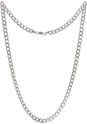 PRIVATE BRAND FINE JEWELRY Made in Italy Sterling Silver 24 Inch Solid Curb Chain Necklace