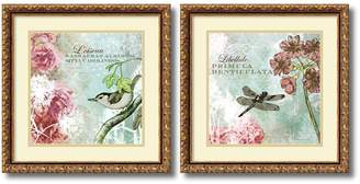 Tiffany & Co. Amanti Art ''Tiffany Nature'' Floral 2-piece Framed Wall Art Set
