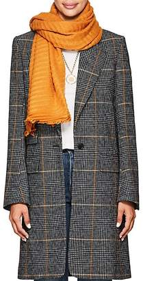 Destin Women's Crinkled Basket-Weave Wool-Blend Stole - Yellow