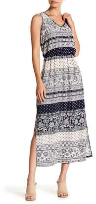 Como Vintage Printed Side Slits Crepe Maxi Dress (Petite)