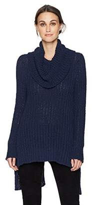 BCBGMAXAZRIA Women's Jules Knit Split-Back Turtleneck