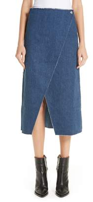 Simon Miller Long Denim Wrap Skirt
