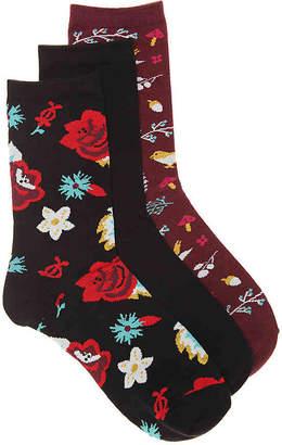 Kelly & Katie Floral Crew Sock - 3 Pack - Women's