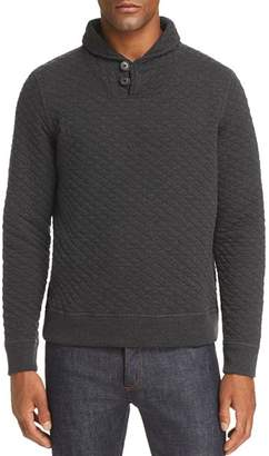 Billy Reid Quilted Shawl Collar Top