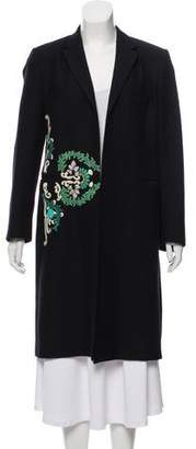 Dries Van Noten Embellished Wool-Blend Coat