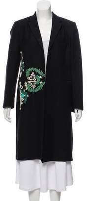 Dries Van Noten Embellished Wool-Blend Coat