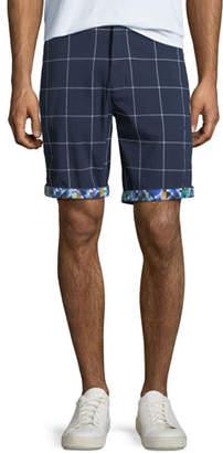 Robert Graham Men's Bounties Windowpane Seersucker Shorts