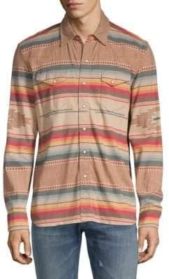 Ralph Lauren Printed Jersey Button-Down Shirt