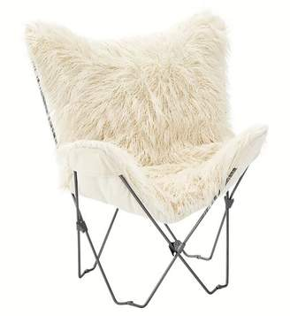 Pottery Barn Teen Furlicious Faux-Fur Butterfly Chair Slipcover + Base