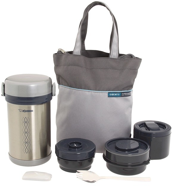 Zojirushi Ms. Bento Stainless Steel Lunch Jar (Stainless Steel) - Home