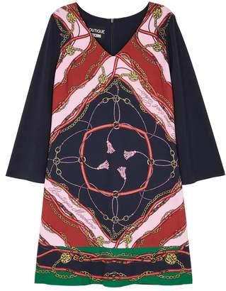 Moschino Navy Printed Dress