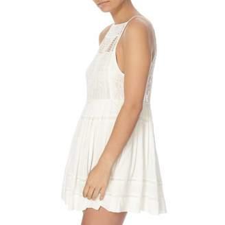 Ivory Emily Crochet Detail Dress