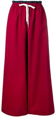 Marni paperbag waist drawstring trousers