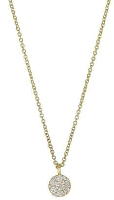 Bony Levy 18K Yellow Gold Diamond Cluster Pendant Necklace - 0.12 ctw