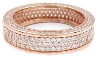 Savvy Cie 18K Rose Gold Vermeil CZ Detail Eternity Band Ring
