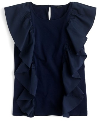 Women's J.crew Ruffle Front Top $39.50 thestylecure.com